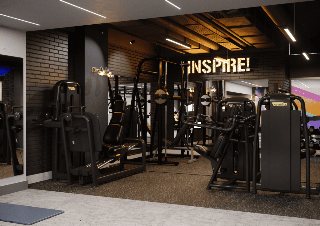 Gym designs for student accommodation development by zynk Design