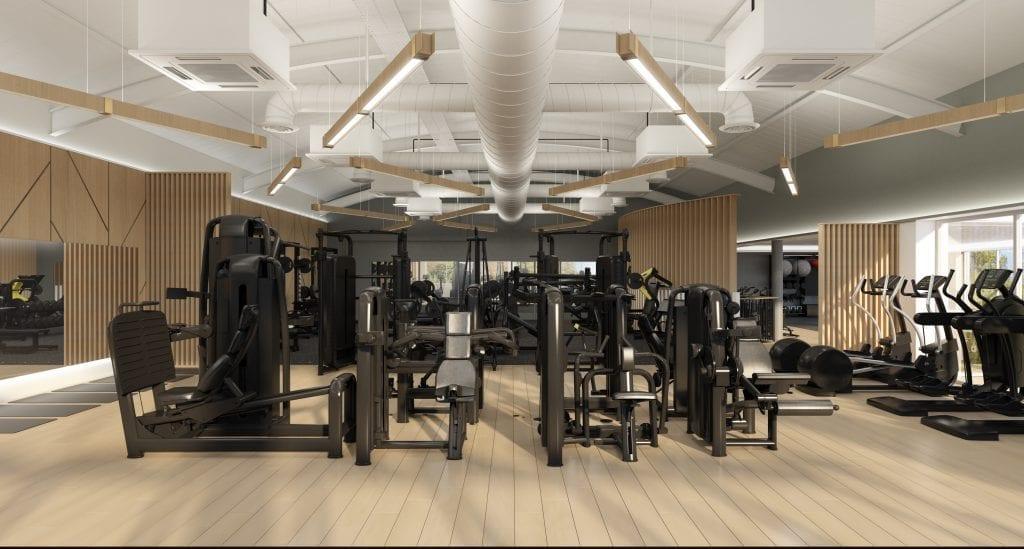 The Lensbury Club Gym Design by Zynk Design