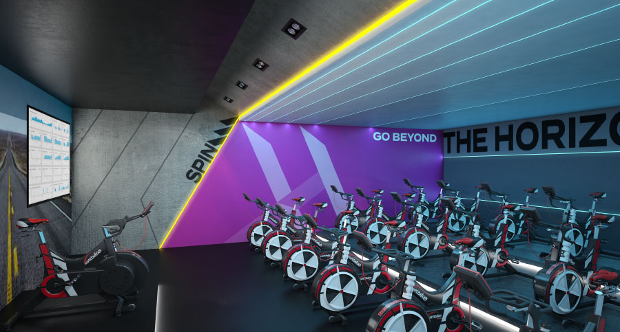 horizon spin studio - zynk design